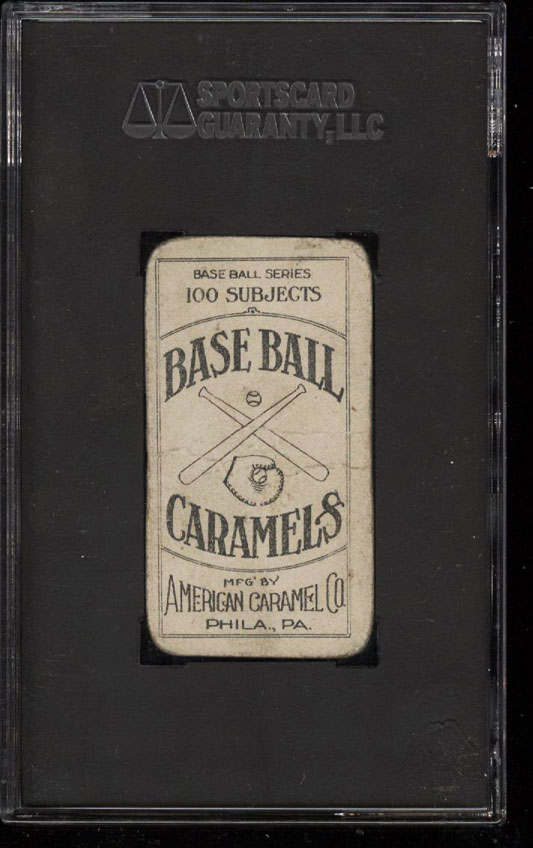 Image 2 of: 1909 E90-1 American Caramel Shoeless Joe Jackson ROOKIE RC SGC 20/1.5 FR+ (PWCC)
