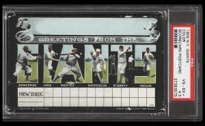 Image of: 1905 NY Giants Scorecard Postcard Color w/ Mathewson Ames PSA 4.5 VGEX+ (PWCC)
