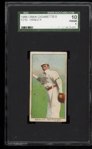 Image of: 1909 T212 Obak Henley SGC 10/1 PR (PWCC)