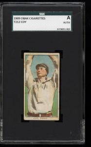 Image of: 1909 T212 Obak Coy SGC AUTH (PWCC)