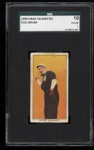 Image of: 1909 T212 Obak Baum SGC 10/1 PR (PWCC)