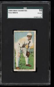 Image of: 1909 T212 Obak Breen SGC 10/1 PR (PWCC)