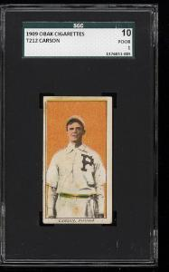 Image of: 1909 T212 Obak Carson SGC 10/1 PR (PWCC)