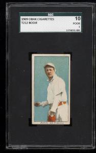 Image of: 1909 T212 Obak Bodie SGC 10/1 PR (PWCC)