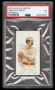 Image of: 1887 N28 Allen & Ginter Timothy Keefe PSA 5 EX (PWCC)