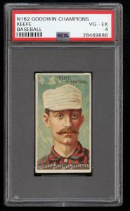 Image of: 1888 N162 Goodwin Champions Timothy Keefe PSA 4 VGEX (PWCC)