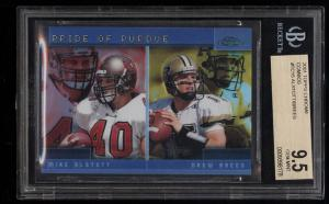 Image of: 2001 Topps Chrome Combos Mike Alstott Drew Brees ROOKIE RC #TC15 BGS 9.5 (PWCC)