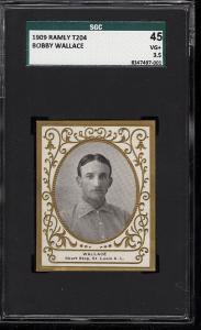 Image of: 1909 T204 Ramly Bobby Wallace SGC 45/3.5 VG+ (PWCC)