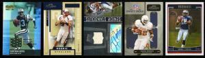 Image of: Lot(5) 2001-06 Football Stars w/ Vince Young Santana Moss, PATCH (PWCC)