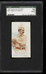 Image of: 1887 N28 Allen & Ginter Timothy Keefe SGC 10/1 PR (PWCC)