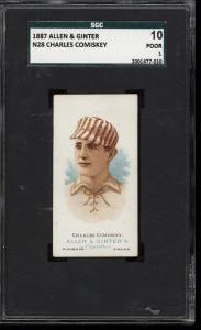 Image of: 1887 N28 Allen & Ginter Charles Comiskey SGC 10/1 PR (PWCC)
