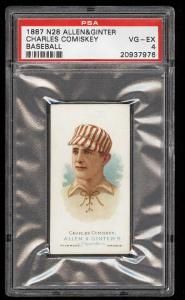 Image of: 1887 N28 Allen & Ginter Charles Comiskey PSA 4 VGEX (PWCC)