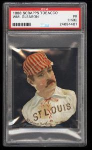Image of: 1888 Scrapps Tobacco Die-Cut William Gleason PSA 1(mk) PR (PWCC)