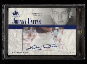 Image of: 2002 SP Legendary Cuts Football Johnny Unitas AUTO #LC-JU (PWCC)