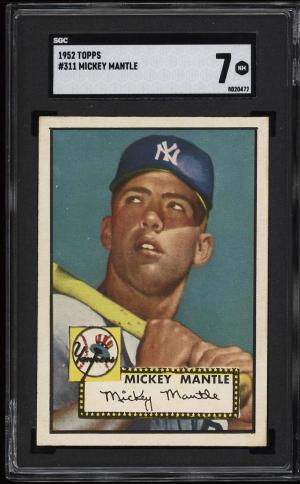 Image of: 1952 Topps Mickey Mantle #311 SGC 7 NRMT (PWCC-PQ)