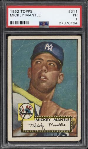 Image of: 1952 Topps Mickey Mantle #311 PSA 1 PR (PWCC-PQ)