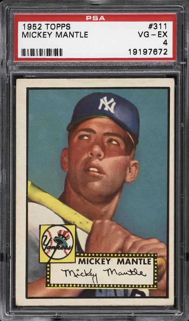 Image of: 1952 Topps SETBREAK Mickey Mantle #311 PSA 4 VGEX (PWCC)