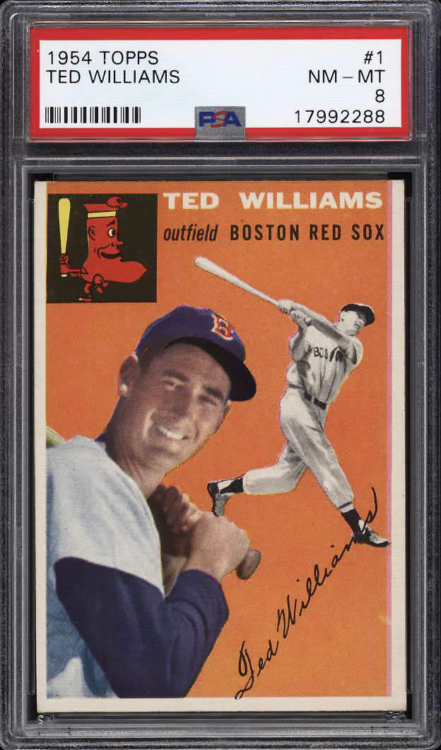Image 1 of: 1954 Topps Ted Williams #1 PSA 8 NM-MT (PWCC)