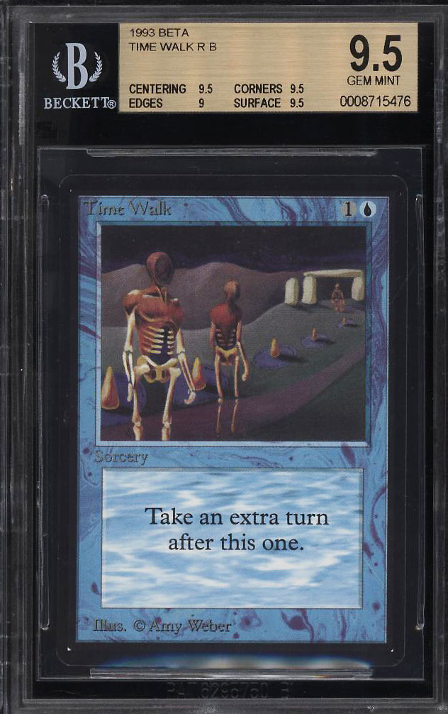 Image 1 of: 1993 Magic The Gathering MTG Beta Time Walk R B BGS 9.5 GEM MINT (PWCC)
