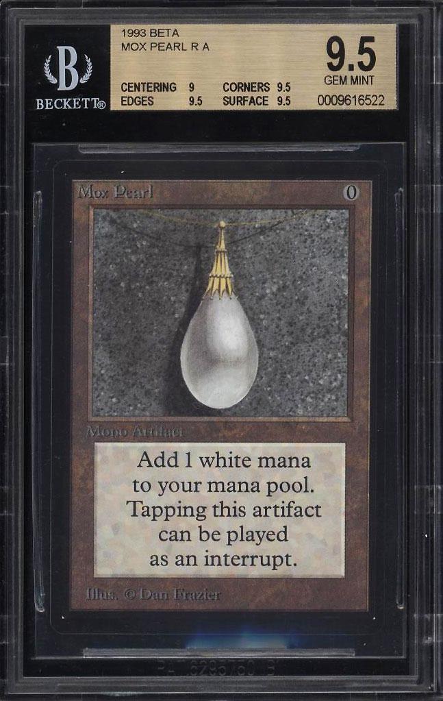 Image 1 of: 1993 Magic The Gathering MTG Beta Mox Pearl R A BGS 9.5 GEM MINT (PWCC)