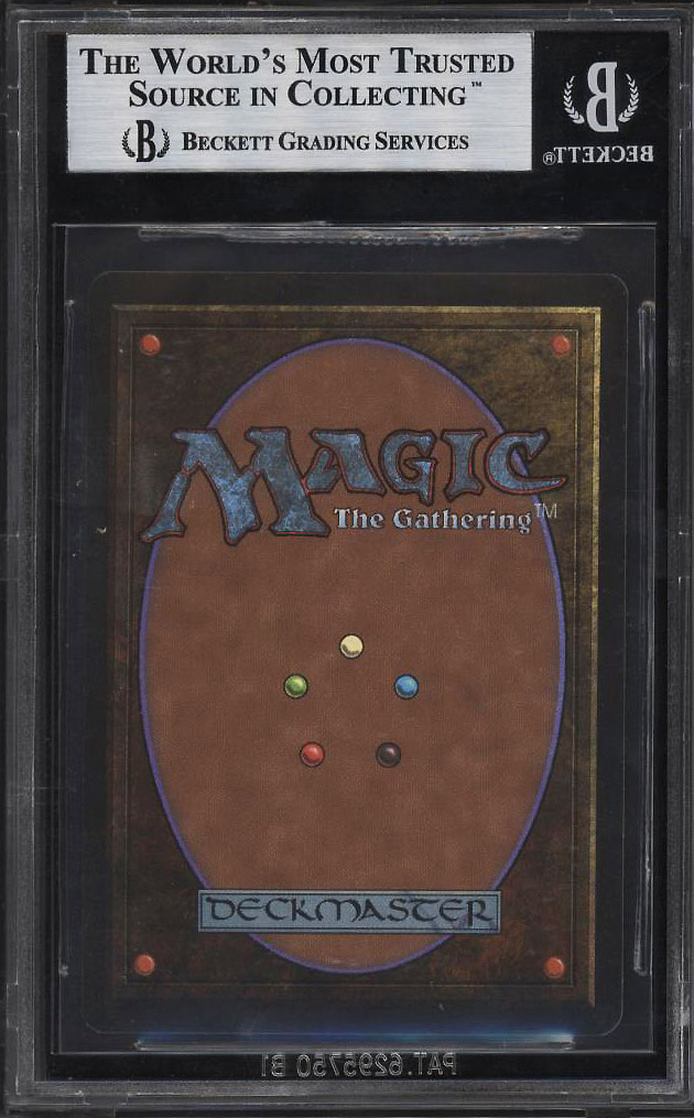 Image 2 of: 1993 Magic The Gathering MTG Beta Mox Sapphire R A BGS 9 MINT (PWCC)