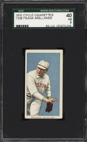 Image of: 1909-11 T206 Frank Arellanes CYCLE SGC 3 VG (PWCC)