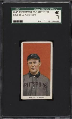 Image of: 1909-11 T206 Bill Abstein SGC 3 VG (PWCC)