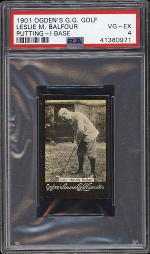 Image of: 1901 Ogden's Guinea Gold I Base Golf Leslie Balfour PSA 4 VGEX (PWCC)