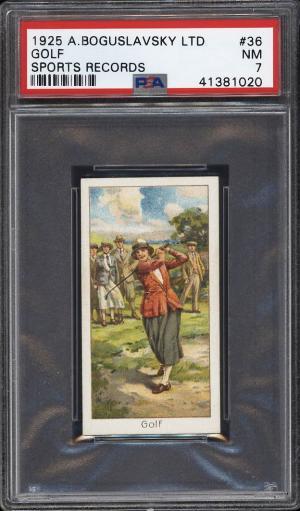 Image of: 1925 Boguslavsky Sports Records Golf #36 PSA 7 NRMT (PWCC)