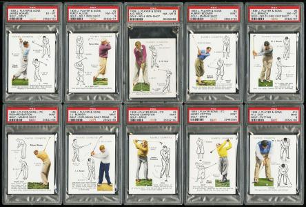 Image of: 1939 John Player & Sons Golf COMPLETE PSA SET Henry Cotton Padgham Alliss (PWCC)