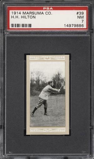 Image of: 1914 Marsuma Golf H.H. Hilton #39 PSA 7 NRMT (PWCC)