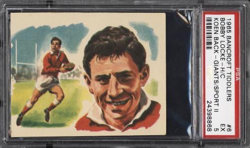 Image of: 1965 Bancroft Tiddlers Giants Of Sport II Bobby Locke KOEN BACK #6 PSA 5 (PWCC)