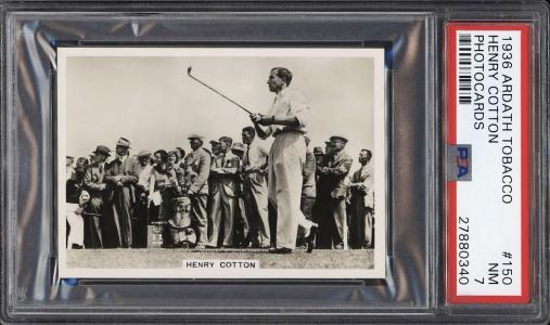 Image of: 1936 Ardath Photocards Golf Henry Cotton #150 PSA 7 NRMT (PWCC)