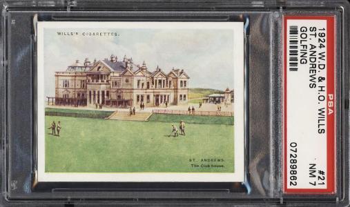 Image of: 1924 W.D. & H.O. Wills Golfing St. Andrews #21 PSA 7 NRMT (PWCC)