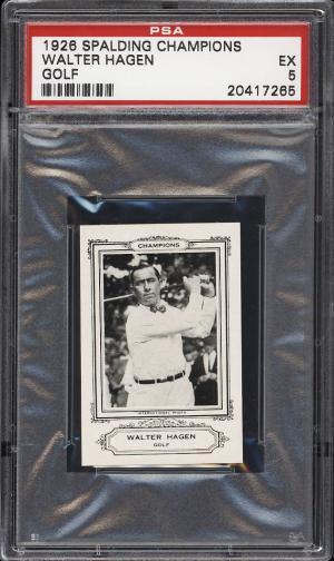 Image of: 1926 Spalding Champions Golf Walter Hagen ROOKIE RC PSA 5 EX (PWCC)