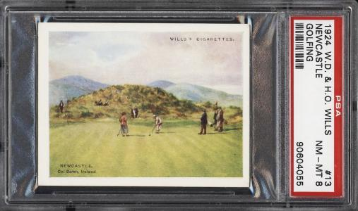 Image of: 1924 W.D. & H.O. Wills Golfing Newcastle #13 PSA 8 NM-MT (PWCC)
