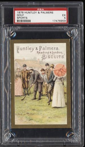 Image of: 1878 Huntley & Palmers Sports Biscuits Golf PSA 5 EX (PWCC)