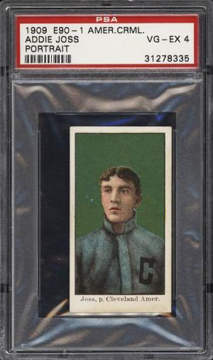 Image of: 1909 E90-1 American Caramel Addie Joss PORTRAIT PSA 4 VGEX (PWCC)
