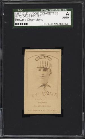 Image of: 1887 N172 Old Judge Dave Foutz BROWN'S CHAMPIONS SGC Auth (PWCC)
