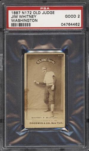 Image of: 1887 N172 Old Judge Jim Whitney WASHINGTON PSA 2 GD (PWCC)