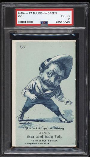 Image of: 1880 H804-17 Blueish-Green Go! PSA 2 GD (PWCC)