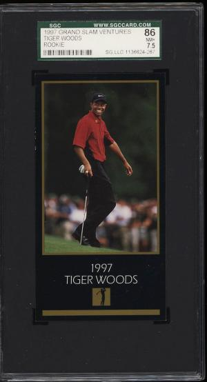 Image of: 1998 Champions Of Golf Masters Collection Tiger Woods ROOKIE RC SGC 7.5 (PWCC)