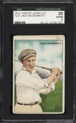 Image of: 1912 T227 Series Of Champions Golf Jack McDermott SGC 2 GD (PWCC)