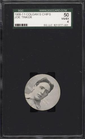 Image of: 1909 Colgan's Chips Stars Of The Diamond Joe Tinker SGC 4 VGEX (PWCC)