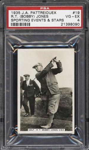 Image of: 1935 Pattreiouex Sporting Events & Stars Golf Bobby Jones #19 PSA 4 VGEX (PWCC)