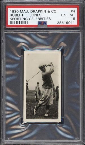 Image of: 1930 Major Drapkin Sporting Celebrities Golf Bobby Jones #4 PSA 6 EXMT (PWCC)