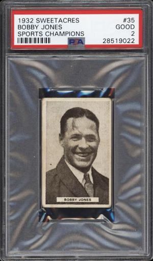 Image of: 1932 Sweetacres Sports Champions Golf Bobby Jones #35 PSA 2 GD (PWCC)