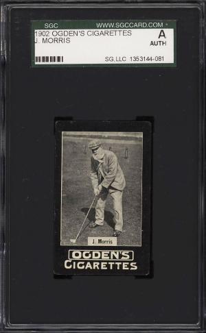Image of: 1902 Ogden's Tabs Sportsmen Golf 'Old Man' Tom Morris SGC Auth (PWCC)