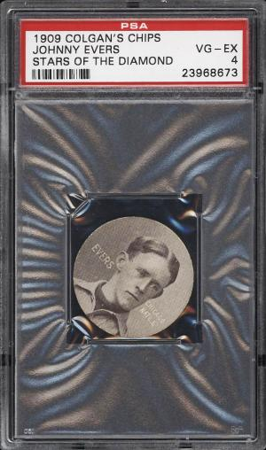 Image of: 1909 Colgan's Chips Stars Of The Diamond Johnny Evers PSA 4 VGEX (PWCC)