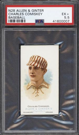 Image of: 1888 N28 Allen & Ginter Charles Comiskey PSA 5.5 EX+ (PWCC)